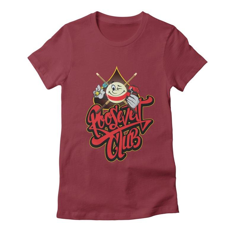 Roosevelt Club Logo Women's Fitted T-Shirt by goofyink's Artist Shop