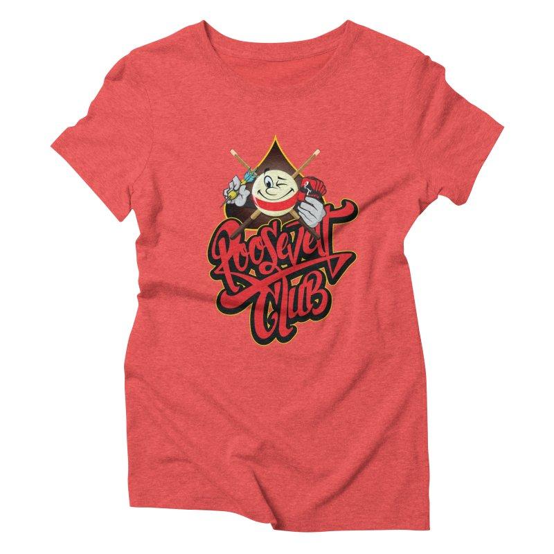 Roosevelt Club Logo Women's Triblend T-Shirt by goofyink's Artist Shop