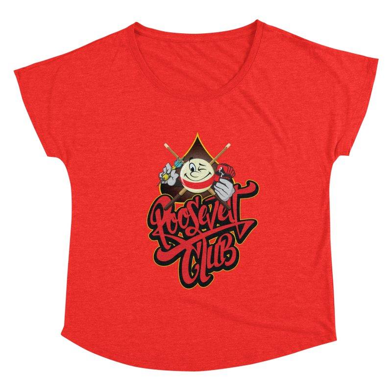 Roosevelt Club Logo Women's Scoop Neck by goofyink's Artist Shop