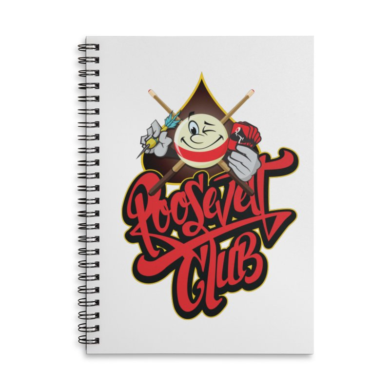 Roosevelt Club Logo Accessories Lined Spiral Notebook by goofyink's Artist Shop