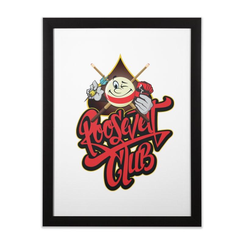 Roosevelt Club Logo Home Framed Fine Art Print by goofyink's Artist Shop