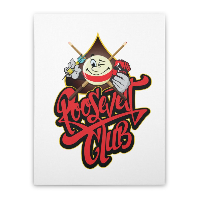 Roosevelt Club Logo Home Stretched Canvas by goofyink's Artist Shop