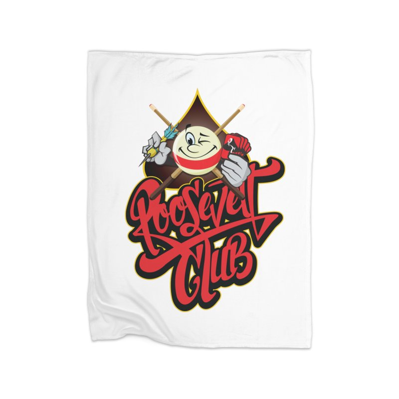 Roosevelt Club Logo Home Fleece Blanket Blanket by goofyink's Artist Shop