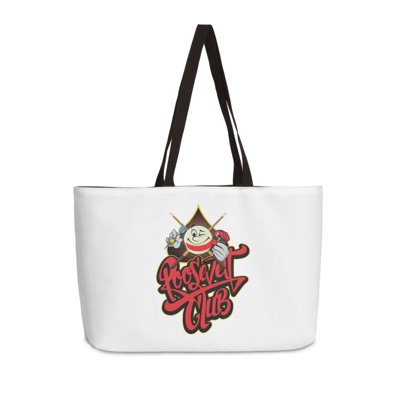 Roosevelt Club Logo Accessories Weekender Bag Bag by goofyink's Artist Shop