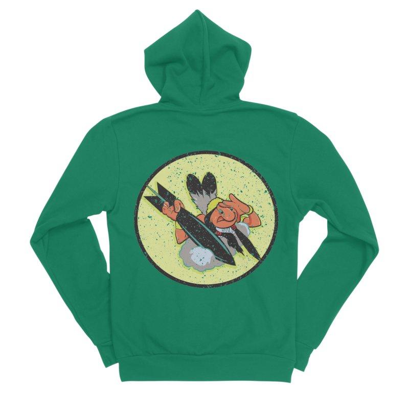 462nd bomber squadron Men's Sponge Fleece Zip-Up Hoody by goofyink's Artist Shop