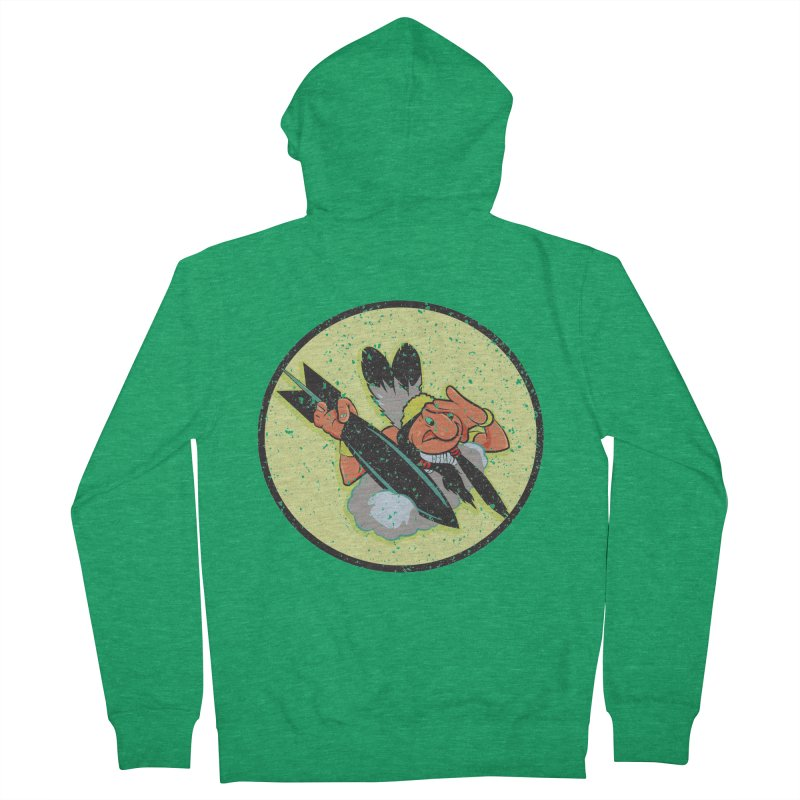 462nd bomber squadron Women's French Terry Zip-Up Hoody by goofyink's Artist Shop