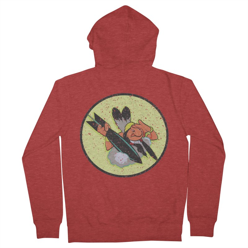 462nd bomber squadron Men's French Terry Zip-Up Hoody by goofyink's Artist Shop
