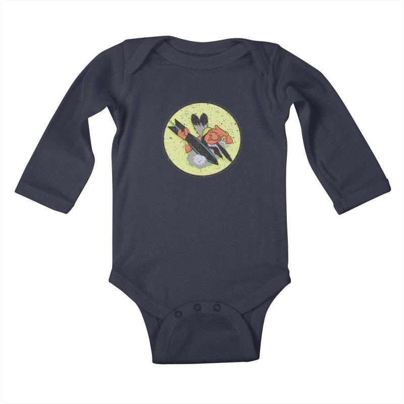 462nd bomber squadron Kids Baby Longsleeve Bodysuit by goofyink's Artist Shop