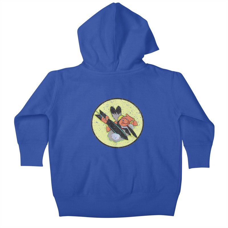462nd bomber squadron Kids Baby Zip-Up Hoody by goofyink's Artist Shop