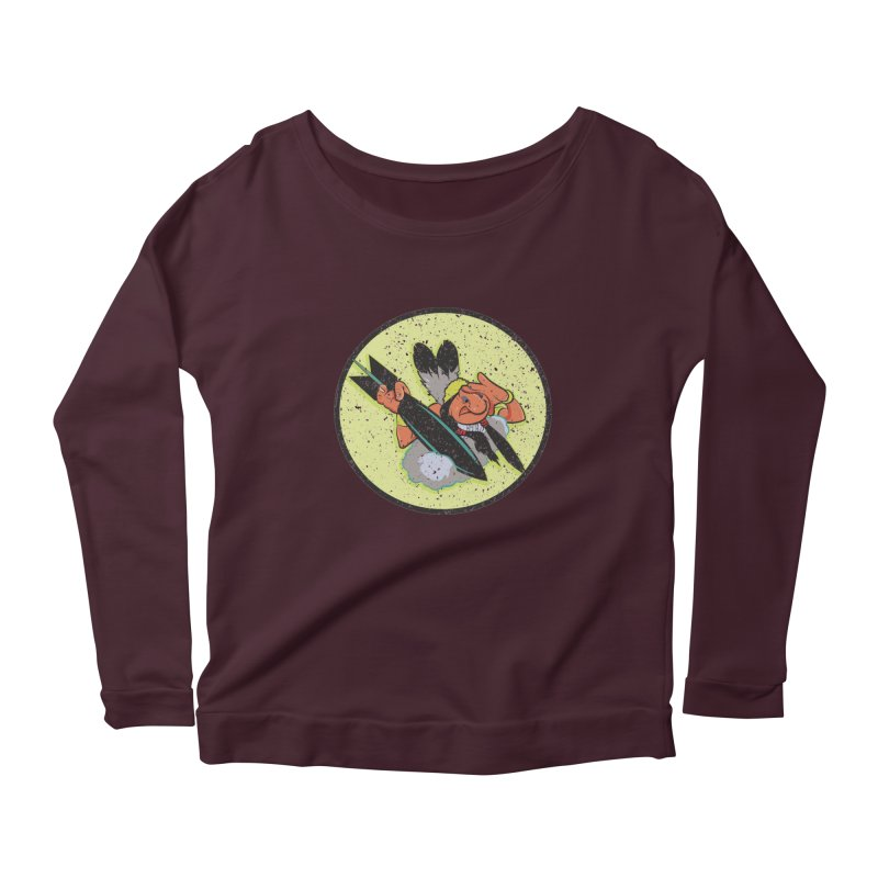 462nd bomber squadron Women's Scoop Neck Longsleeve T-Shirt by goofyink's Artist Shop