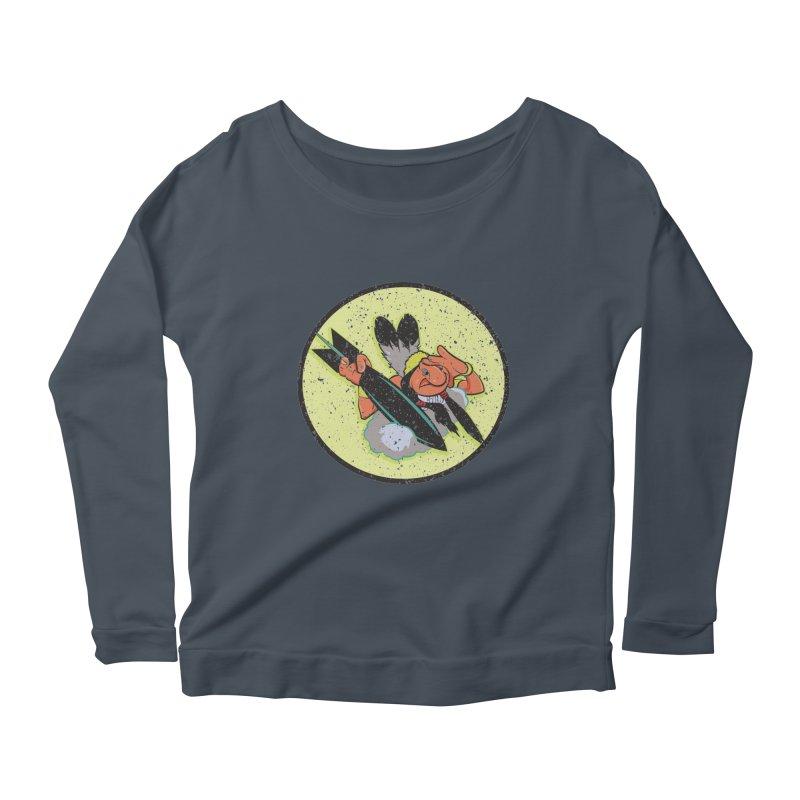 462nd bomber squadron Women's Scoop Neck Longsleeve T-Shirt by goofyink's Artist Shop