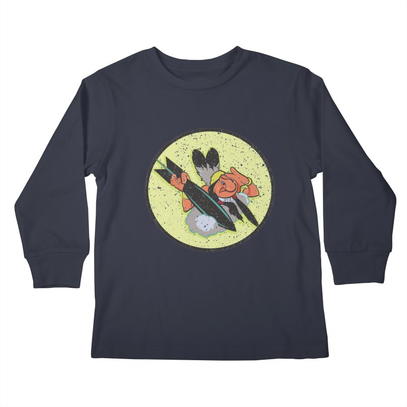 462nd bomber squadron Kids Longsleeve T-Shirt by goofyink's Artist Shop
