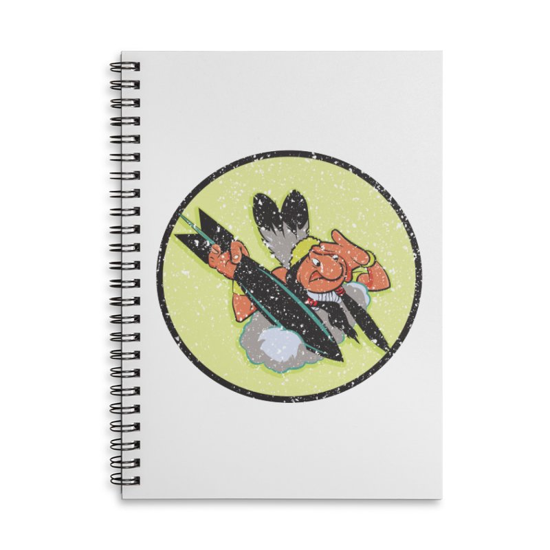 462nd bomber squadron Accessories Lined Spiral Notebook by goofyink's Artist Shop