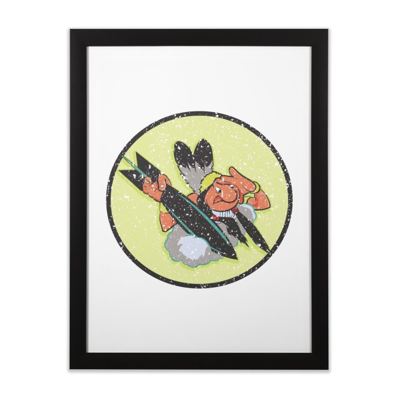 462nd bomber squadron Home Framed Fine Art Print by goofyink's Artist Shop