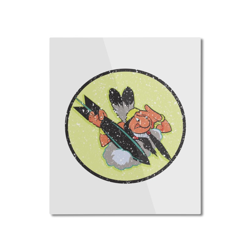 462nd bomber squadron Home Mounted Aluminum Print by goofyink's Artist Shop