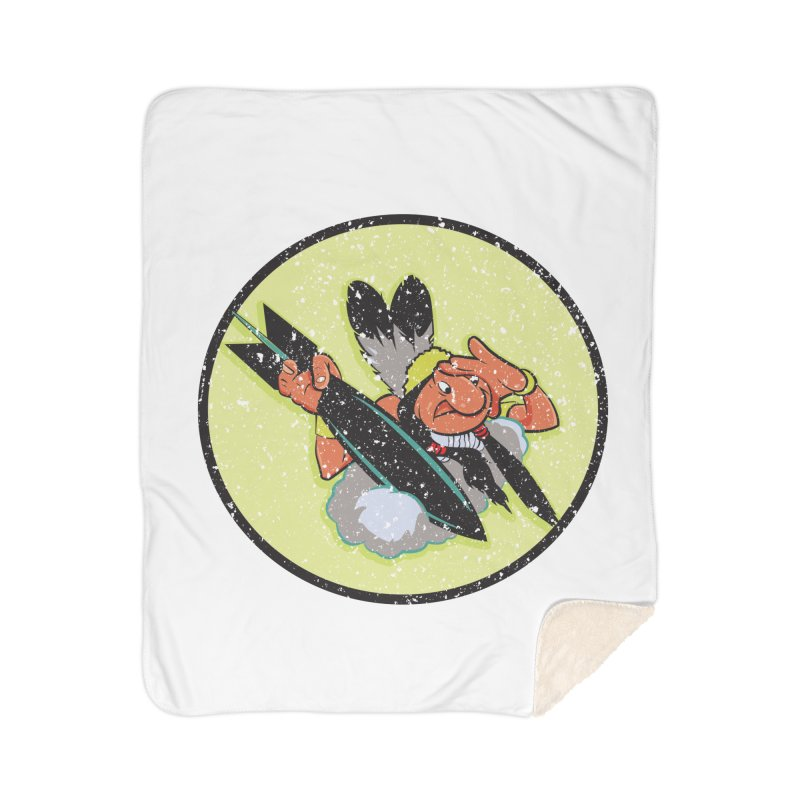 462nd bomber squadron Home Sherpa Blanket Blanket by goofyink's Artist Shop