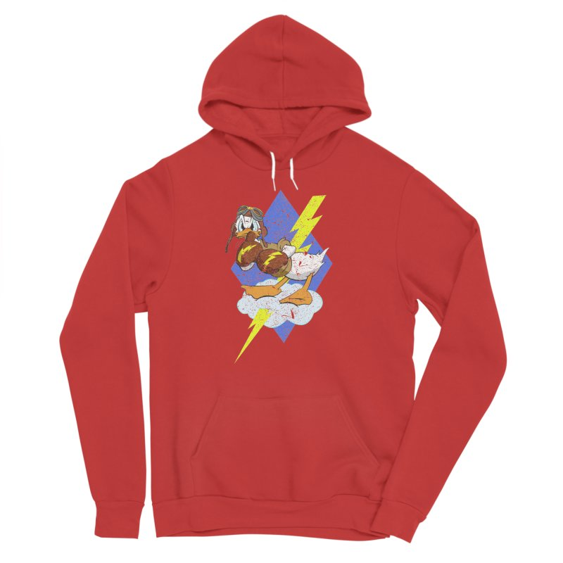 WW II  Bomber Squadron distressed design Men's Pullover Hoody by goofyink's Artist Shop