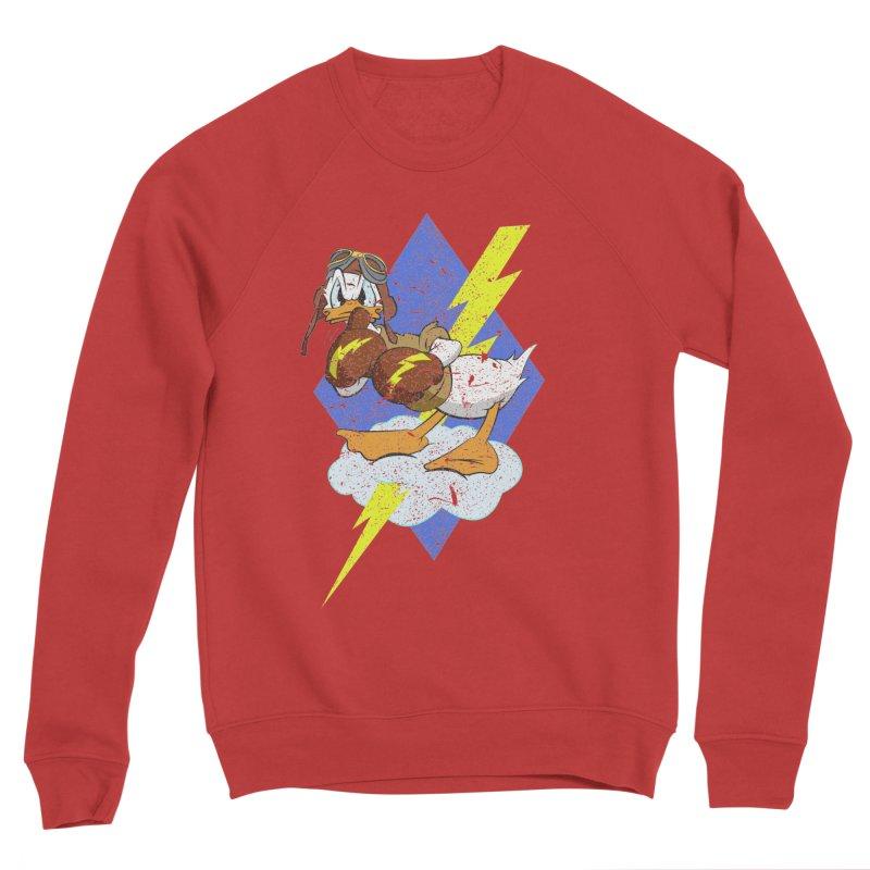 WW II  Bomber Squadron distressed design Women's Sponge Fleece Sweatshirt by goofyink's Artist Shop