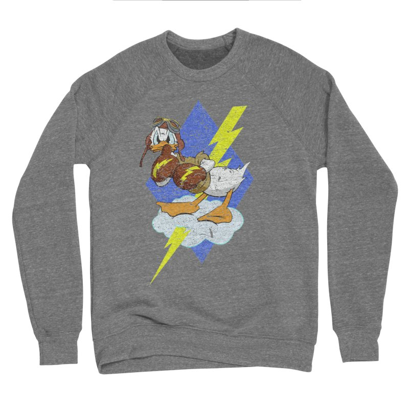 WW II  Bomber Squadron distressed design Men's Sponge Fleece Sweatshirt by goofyink's Artist Shop