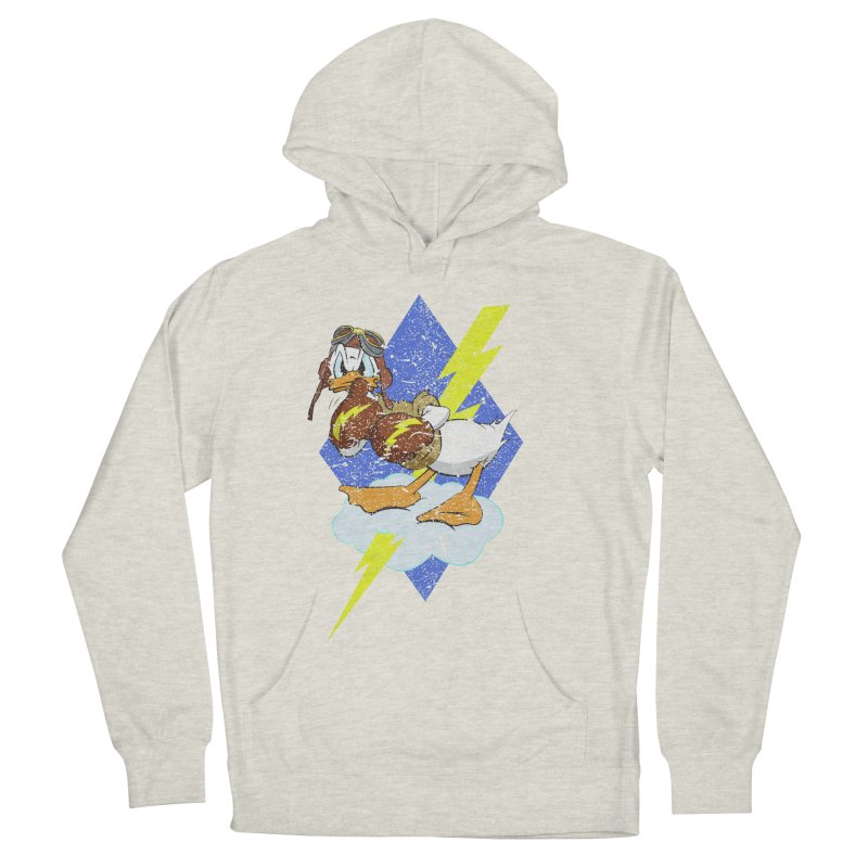 WW II  Bomber Squadron distressed design Women's French Terry Pullover Hoody by goofyink's Artist Shop