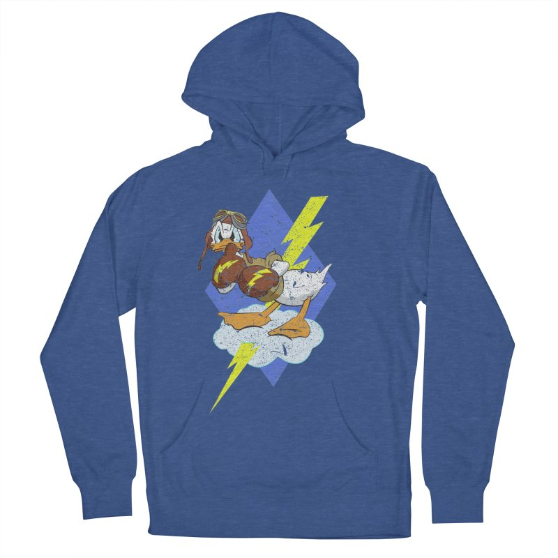 WW II  Bomber Squadron distressed design Men's French Terry Pullover Hoody by goofyink's Artist Shop