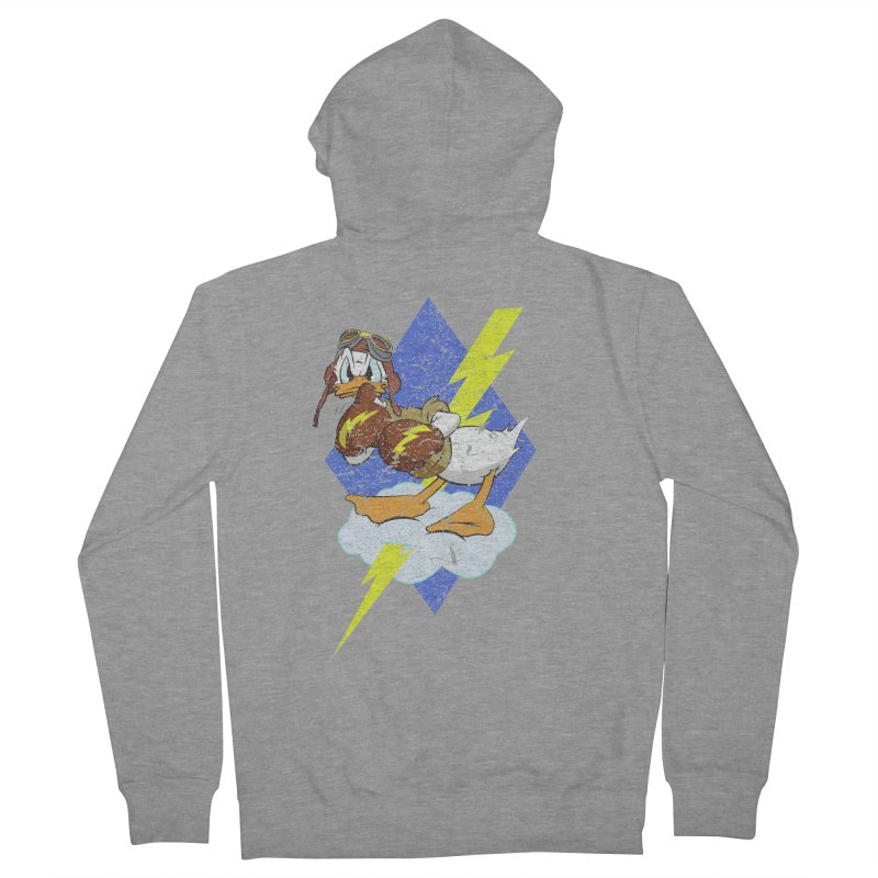 WW II  Bomber Squadron distressed design Women's French Terry Zip-Up Hoody by goofyink's Artist Shop