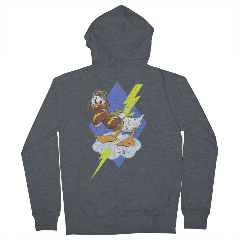 WW II  Bomber Squadron distressed design Men's French Terry Zip-Up Hoody by goofyink's Artist Shop