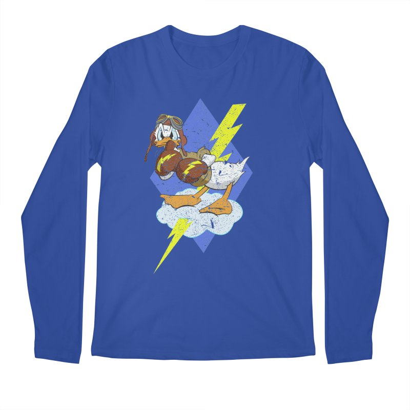 WW II  Bomber Squadron distressed design Men's Longsleeve T-Shirt by goofyink's Artist Shop