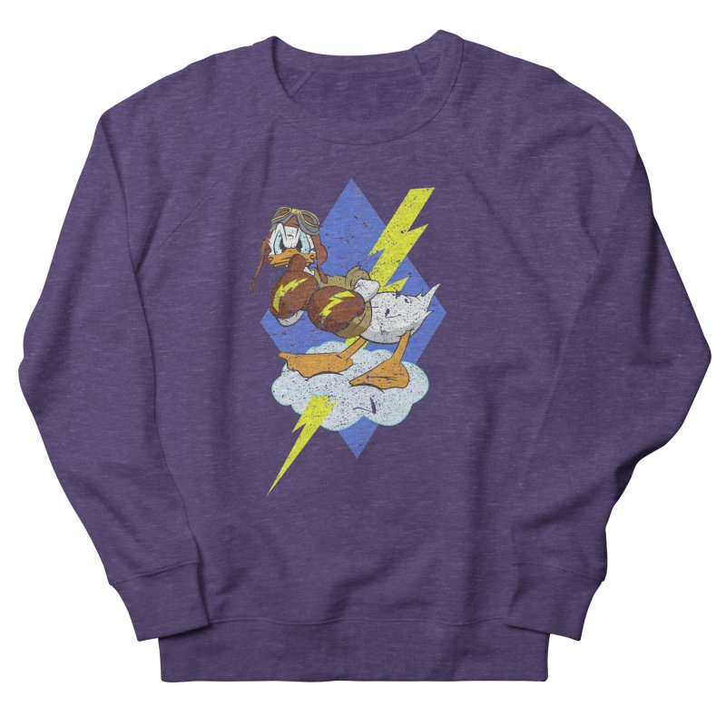 WW II  Bomber Squadron distressed design Women's Sweatshirt by goofyink's Artist Shop