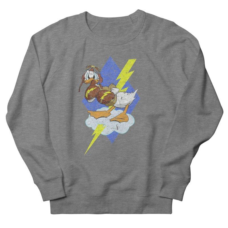 WW II  Bomber Squadron distressed design Women's Sweatshirt by goofyink's Artist Shop