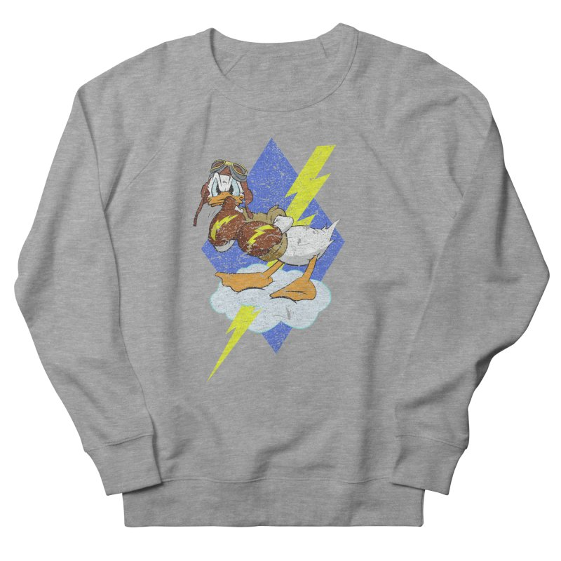 WW II  Bomber Squadron distressed design Women's French Terry Sweatshirt by goofyink's Artist Shop