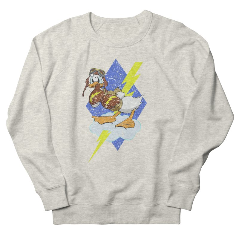 WW II  Bomber Squadron distressed design Men's French Terry Sweatshirt by goofyink's Artist Shop