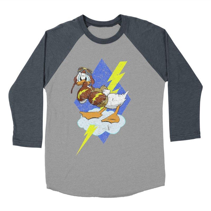 WW II  Bomber Squadron distressed design Women's Baseball Triblend Longsleeve T-Shirt by goofyink's Artist Shop