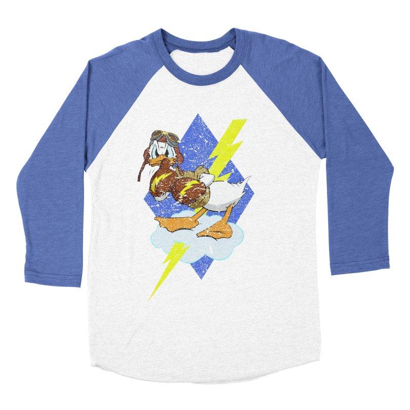 WW II  Bomber Squadron distressed design Men's Baseball Triblend Longsleeve T-Shirt by goofyink's Artist Shop