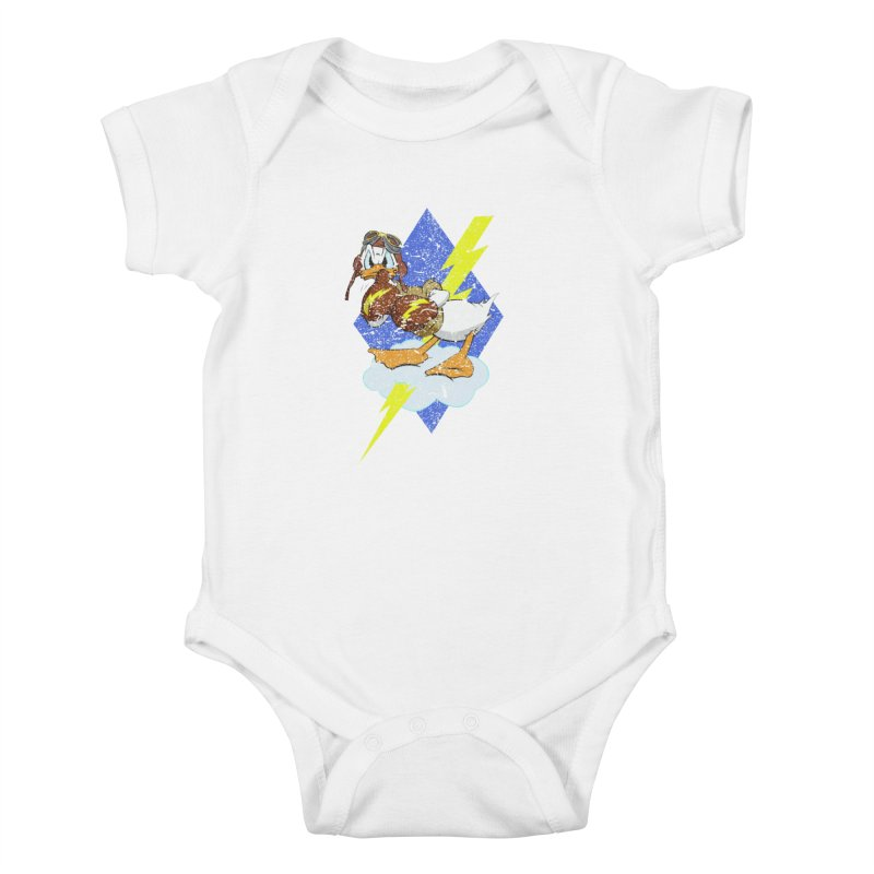 WW II  Bomber Squadron distressed design Kids Baby Bodysuit by goofyink's Artist Shop
