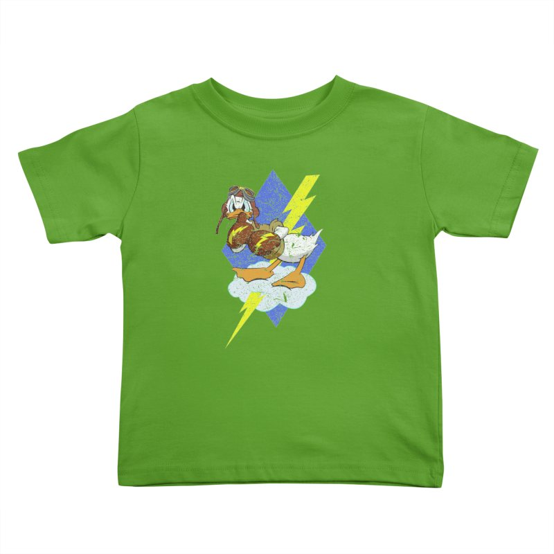 WW II  Bomber Squadron distressed design Kids Toddler T-Shirt by goofyink's Artist Shop