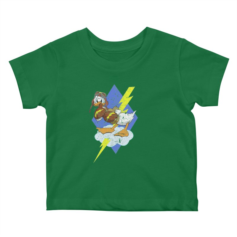 WW II  Bomber Squadron distressed design Kids Baby T-Shirt by goofyink's Artist Shop