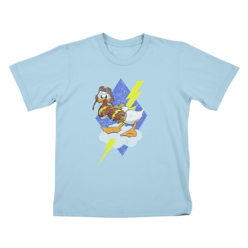 WW II  Bomber Squadron distressed design Kids T-Shirt by goofyink's Artist Shop