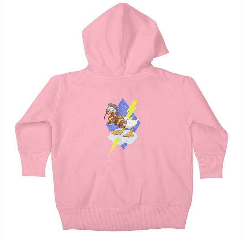 WW II  Bomber Squadron distressed design Kids Baby Zip-Up Hoody by goofyink's Artist Shop