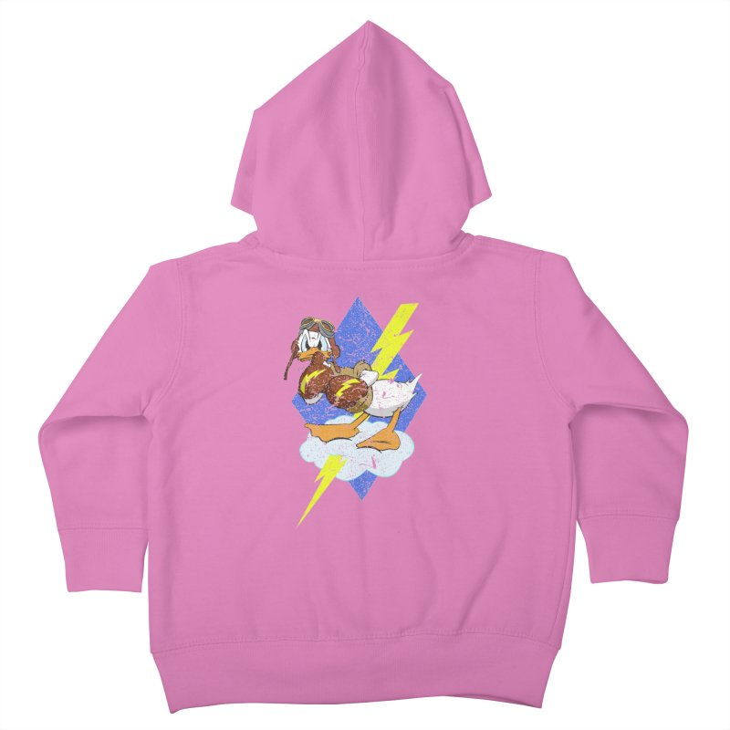 WW II  Bomber Squadron distressed design Kids Toddler Zip-Up Hoody by goofyink's Artist Shop