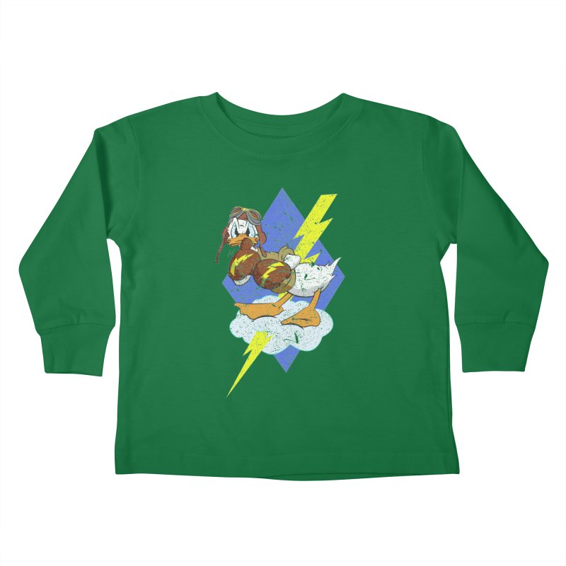 WW II  Bomber Squadron distressed design Kids Toddler Longsleeve T-Shirt by goofyink's Artist Shop