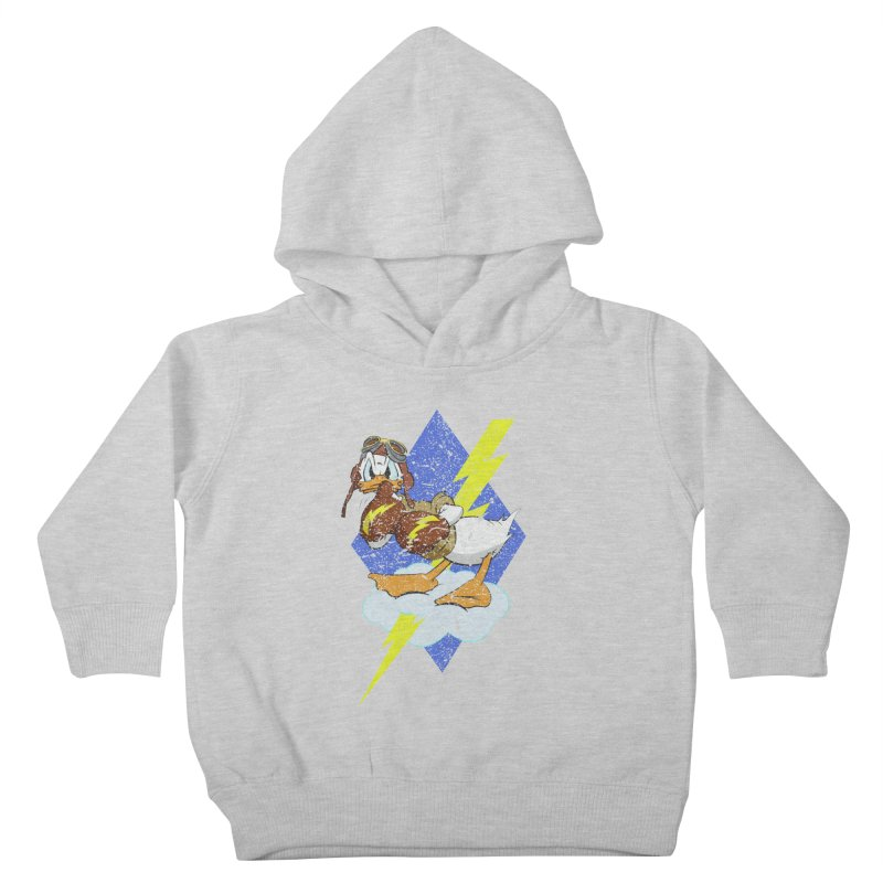 WW II  Bomber Squadron distressed design Kids Toddler Pullover Hoody by goofyink's Artist Shop
