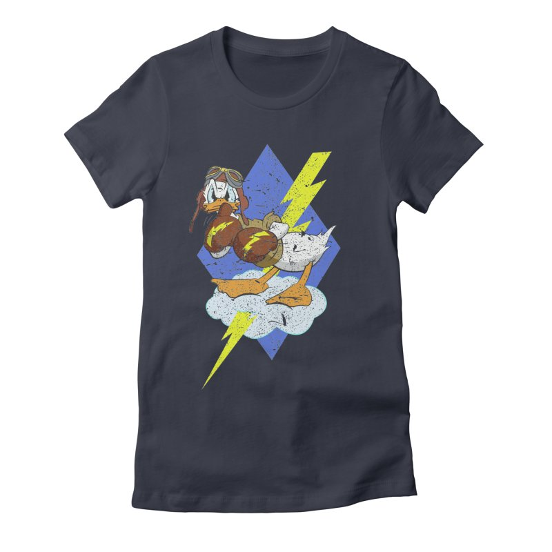 WW II  Bomber Squadron distressed design Women's T-Shirt by goofyink's Artist Shop