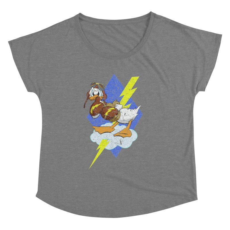 WW II  Bomber Squadron distressed design Women's Scoop Neck by goofyink's Artist Shop