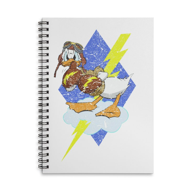 WW II  Bomber Squadron distressed design Accessories Lined Spiral Notebook by goofyink's Artist Shop