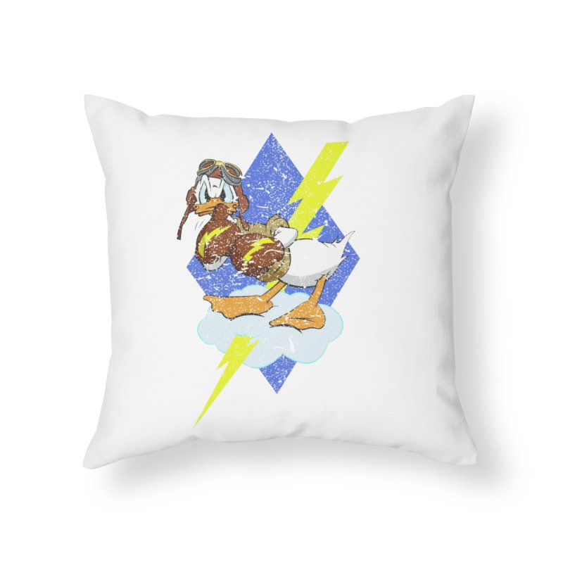 WW II  Bomber Squadron distressed design Home Throw Pillow by goofyink's Artist Shop