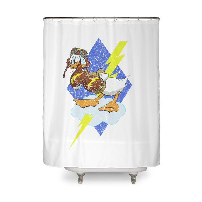 WW II  Bomber Squadron distressed design Home Shower Curtain by goofyink's Artist Shop