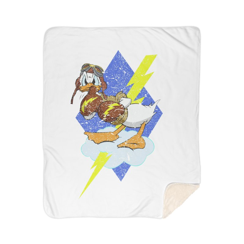 WW II  Bomber Squadron distressed design Home Sherpa Blanket Blanket by goofyink's Artist Shop