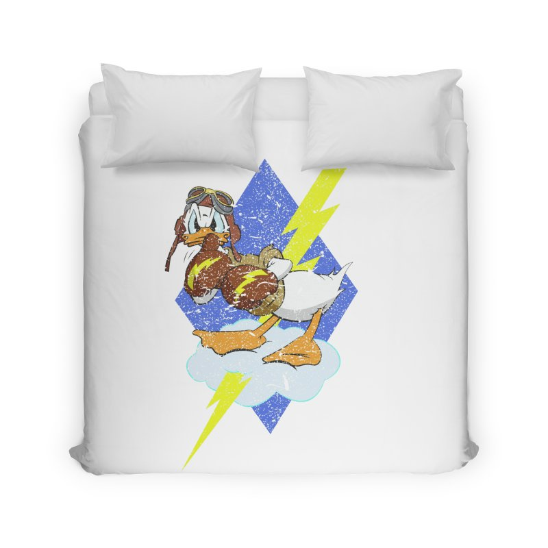 WW II  Bomber Squadron distressed design Home Duvet by goofyink's Artist Shop
