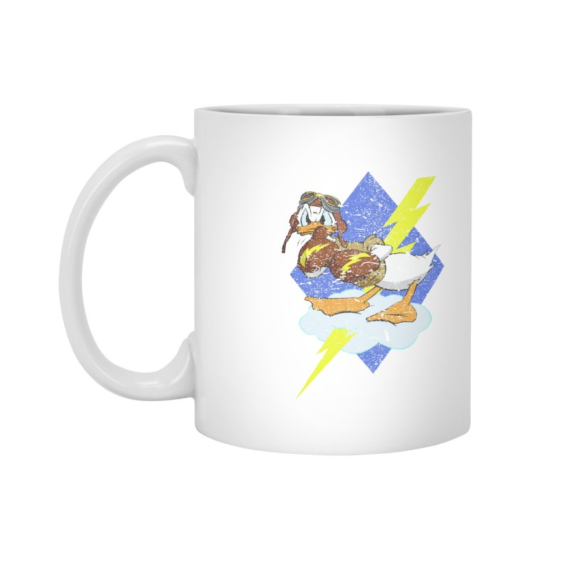 WW II  Bomber Squadron distressed design Accessories Mug by goofyink's Artist Shop